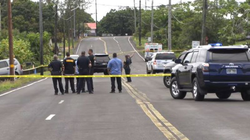 Police fatally shot a man in Hilo on Friday after he lunged at them with a knife, injuring one.