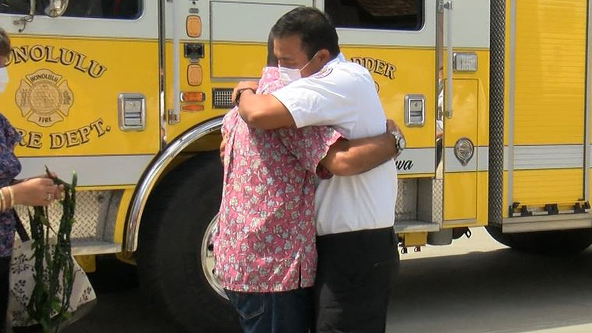 A Kailua resident thanks first responders and good Samaritans for saving his life on Father's...