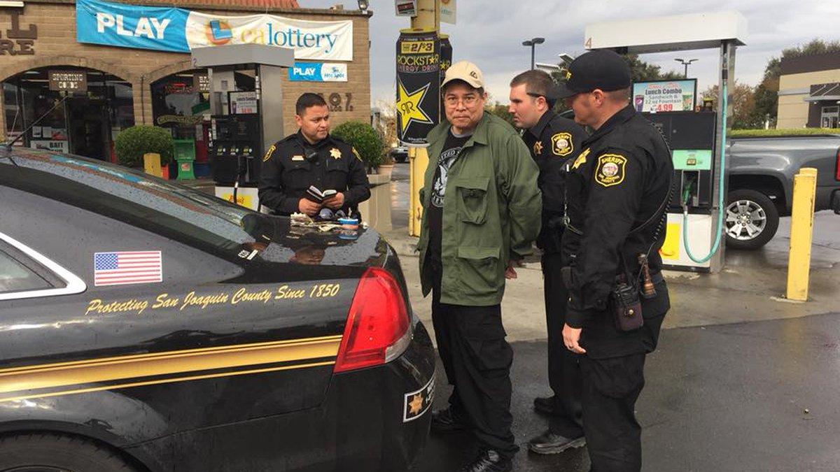 Photo of arrest on Wednesday (Image: San Joaquin Sheriff's Office)