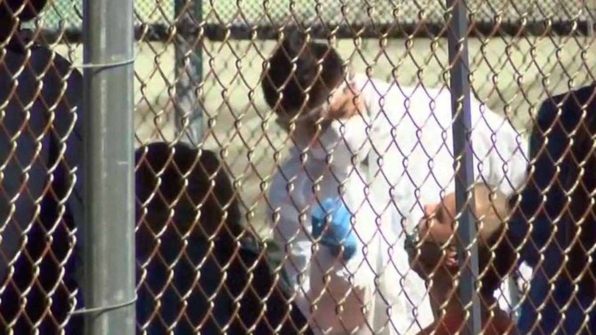 Inmates at Hawaii Community Correctional Center undergo COVID testing.