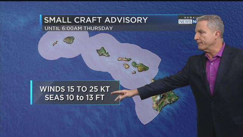 Hawaii Weather Now - Wednesday Morning