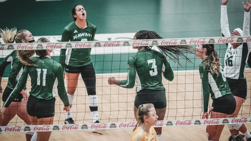The University of Hawaii women's volleyball team opened Big West Conference play with a big...