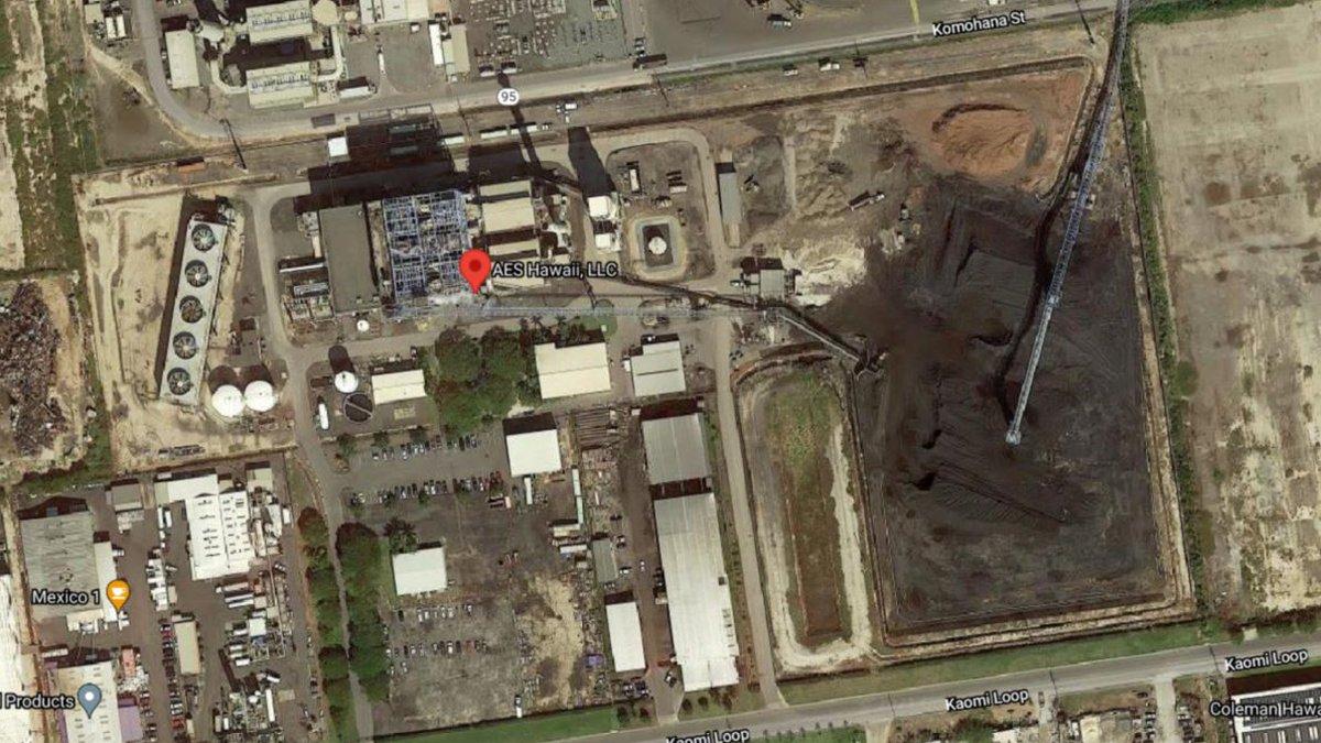 Aerial image of AES Hawaii LLC in Leeward Oahu
