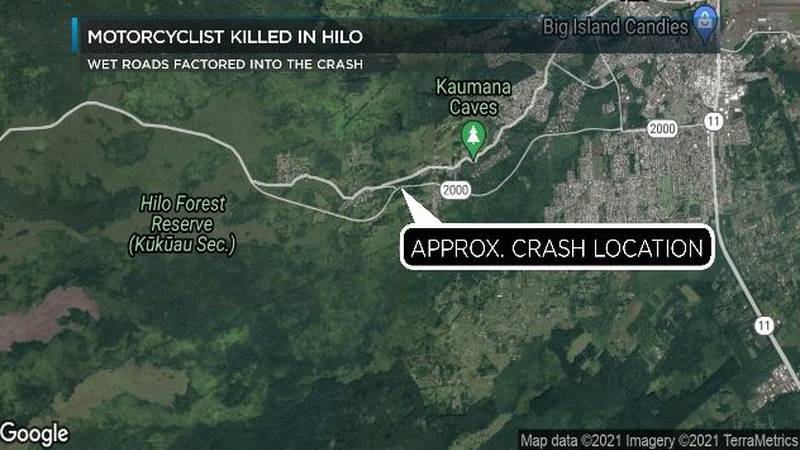 Approximate area of the crash.
