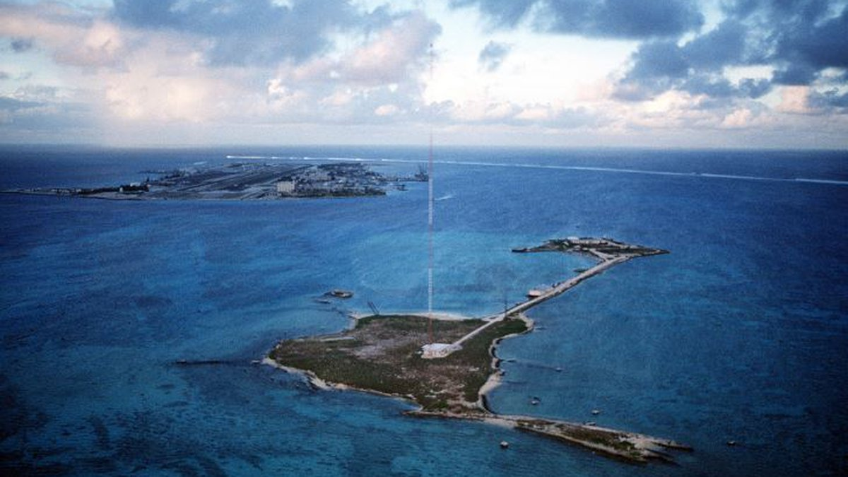 Johnston Atoll was placed under a hurricane warning ahead of Walaka's approach.