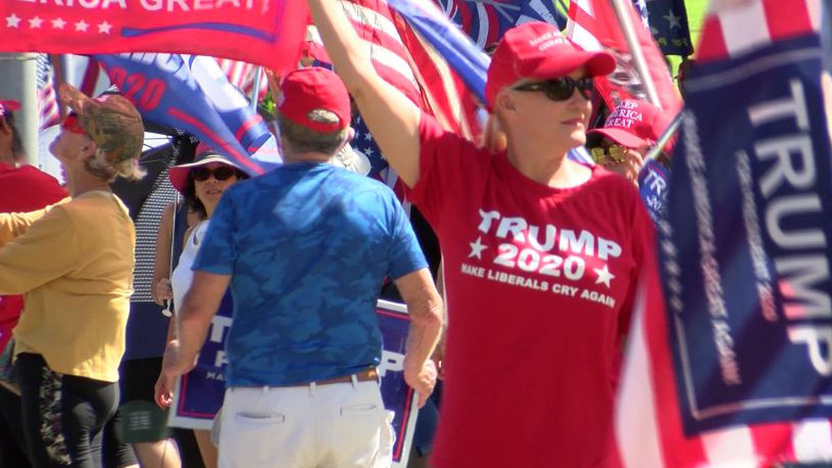 Rallies continued for Trump Saturday.