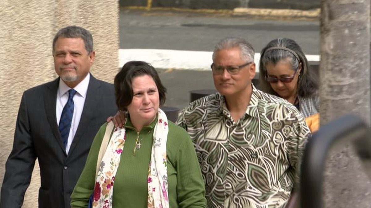 Ex-Police Chief Louis Kealoha and his wife, Katherine, walk into the federal courthouse....