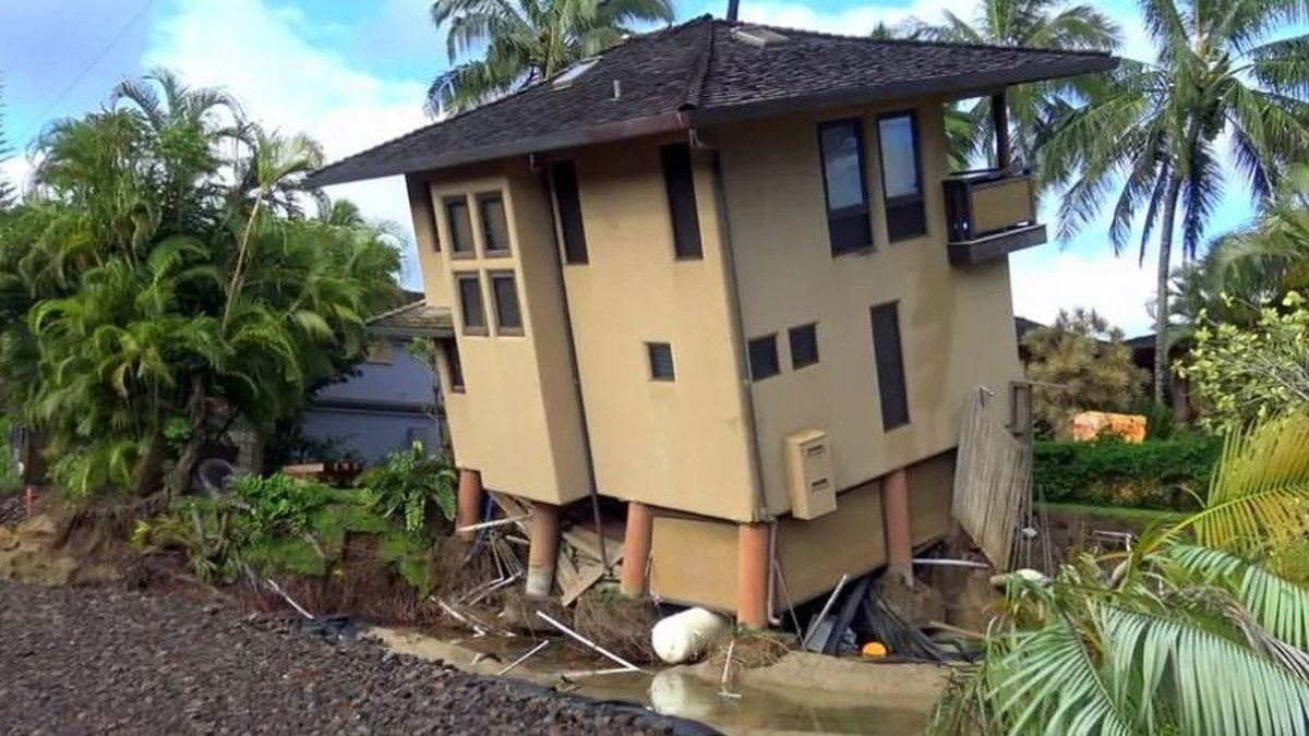 Rains from Hurricane Lane battered the state, including Kauai. (Image: Terry Lilley)