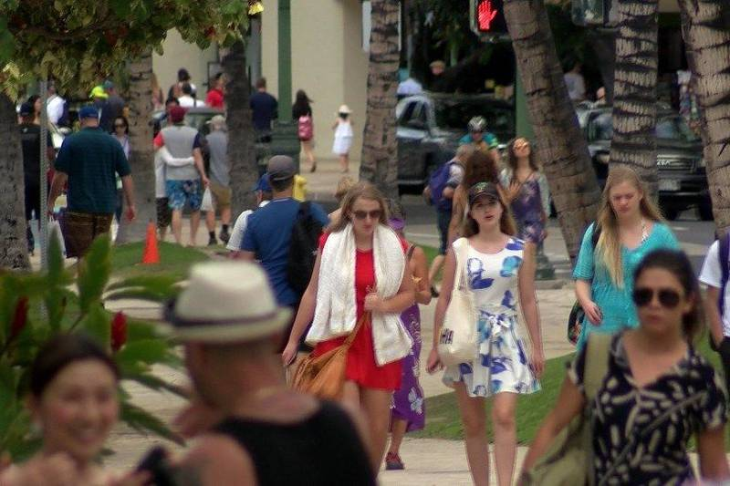 Visitors in Hawaii. (Image: Hawaii News Now/file)