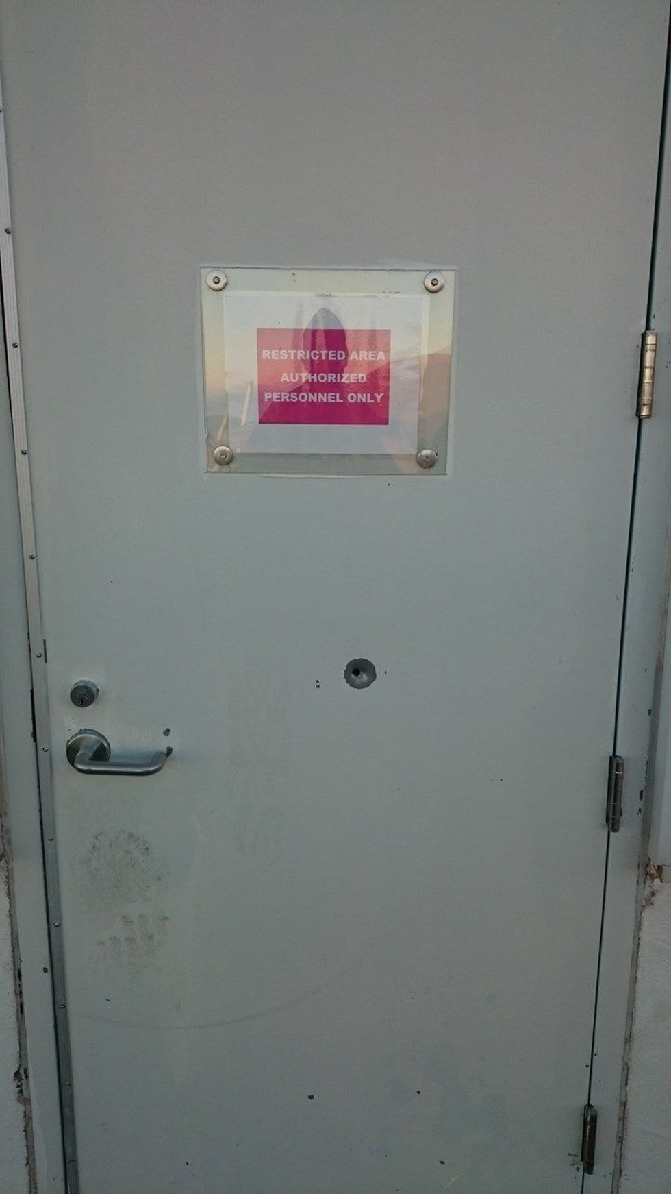 Possible bullet hole at Subaru Telescope   Courtesy NAOJ