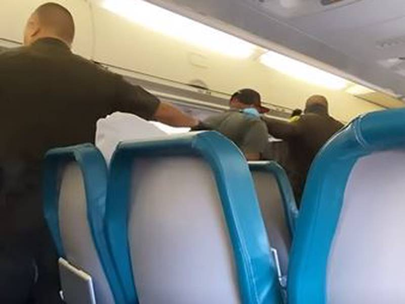 A passenger was arrested after allegedly punching a Hawaiian Air flight onboard a flight to Hilo.