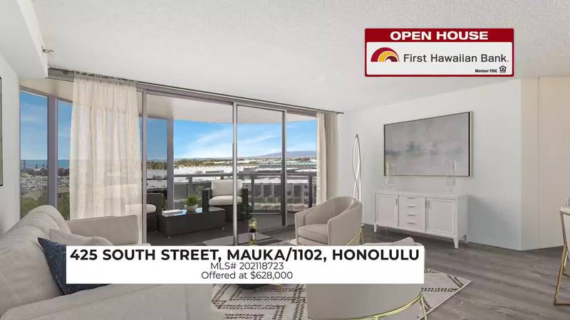 Open House: Rare corner-end townhome in Nuuanu and bright, modern unit at One Waterfront Towers