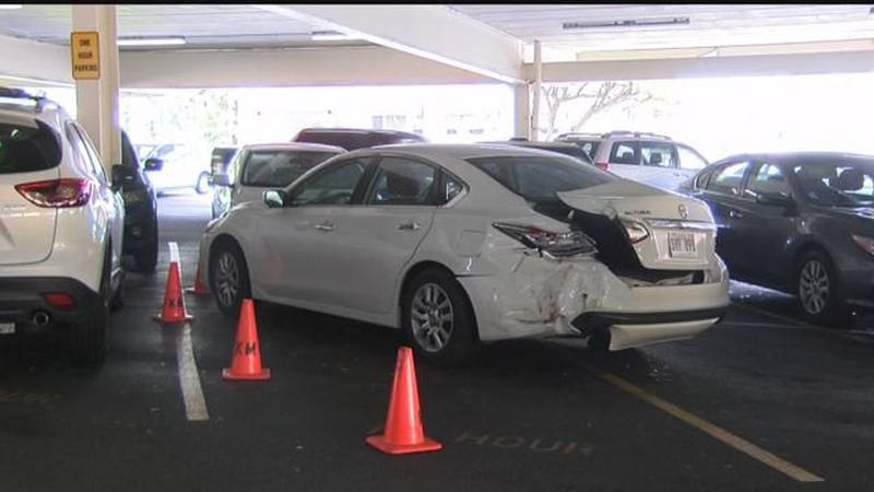 Mother on vacation pinned between cars in hit-and-run at Kahala Mall