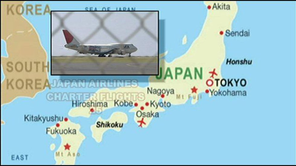 The number of flights to Hawaii from Japan have dropped slightly