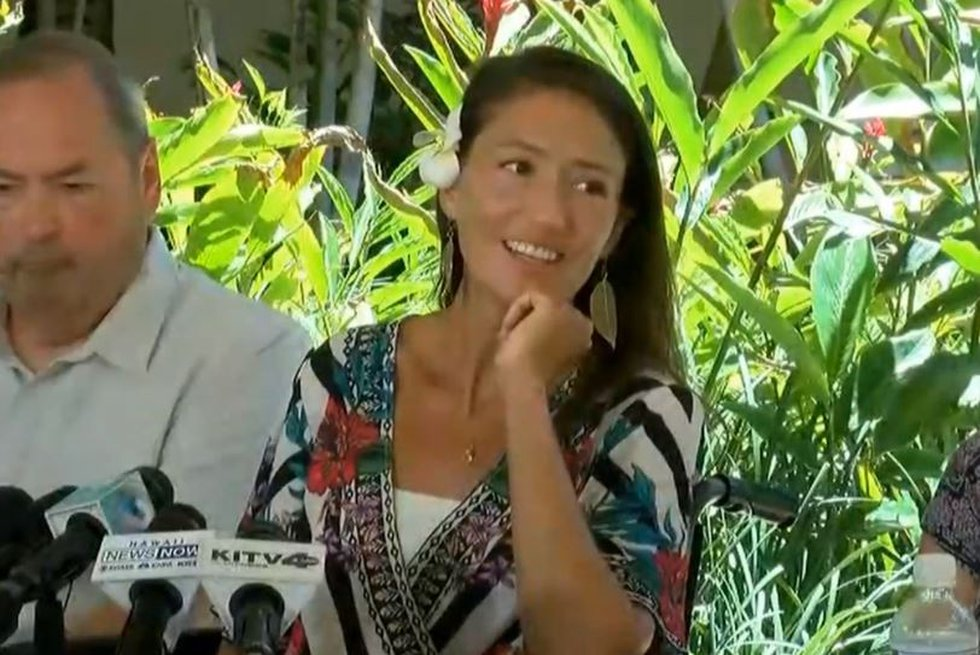 Amanda Eller was lost in a Maui forest for 17 days before she was found. (Image: Hawaii News Now)