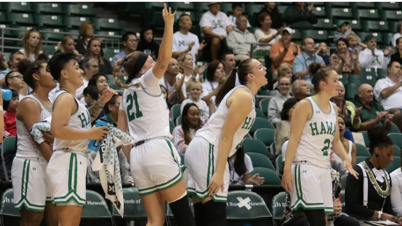 The University of Hawaii women's basketball team claimed five all-conference honors.