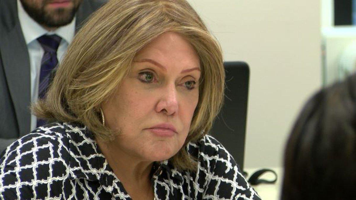 OHA trustee Rowena Akana listens at a hearing Wednesday.