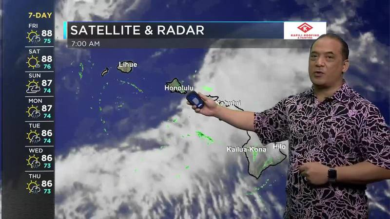 Billy V gives the latest forecast for the Hawaiian Islands