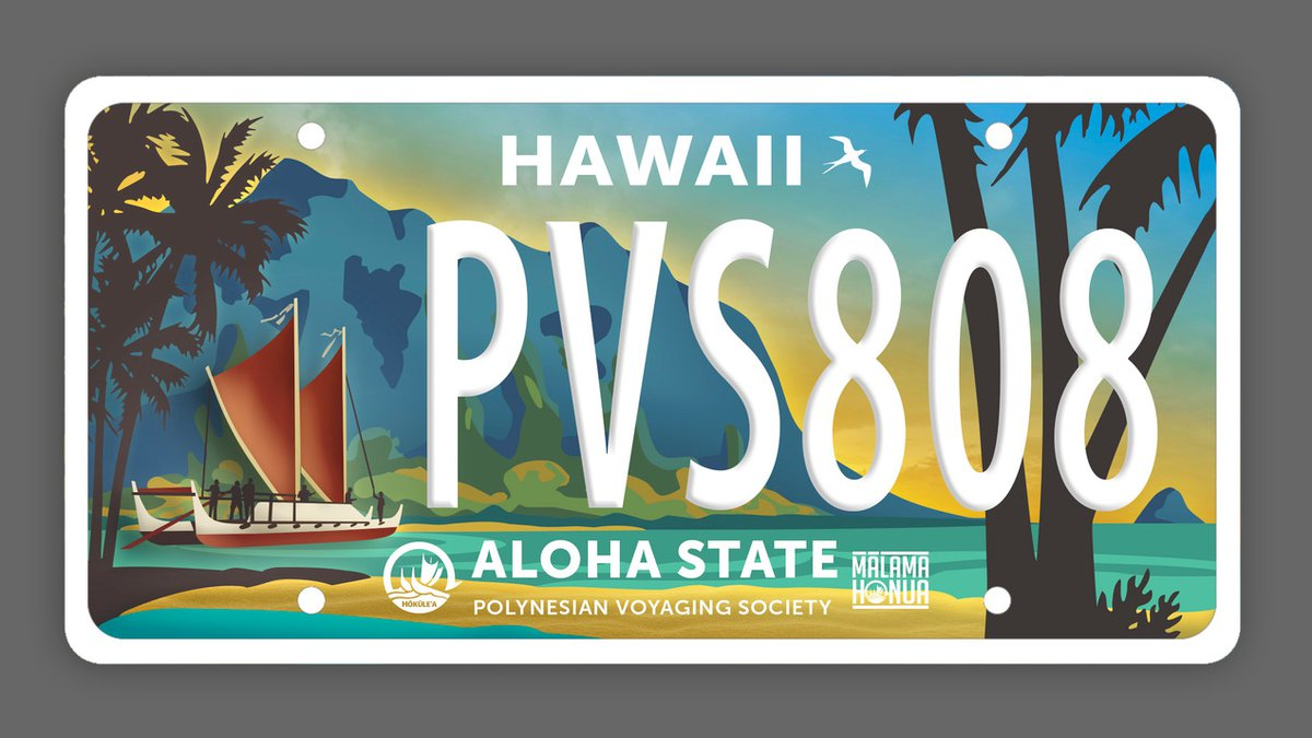 Governor and lawmakers approve Polynesian Voyaging Society specialty license plate.