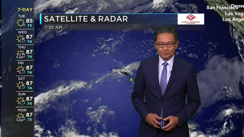 Morning Weather Forecast from Hawaii News Now - Tuesday, June 15, 2021