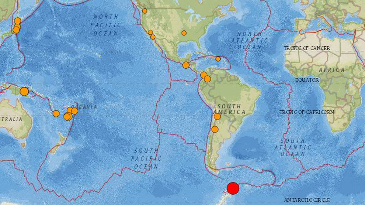 The red dot on the map indicates the area of the earthquake.