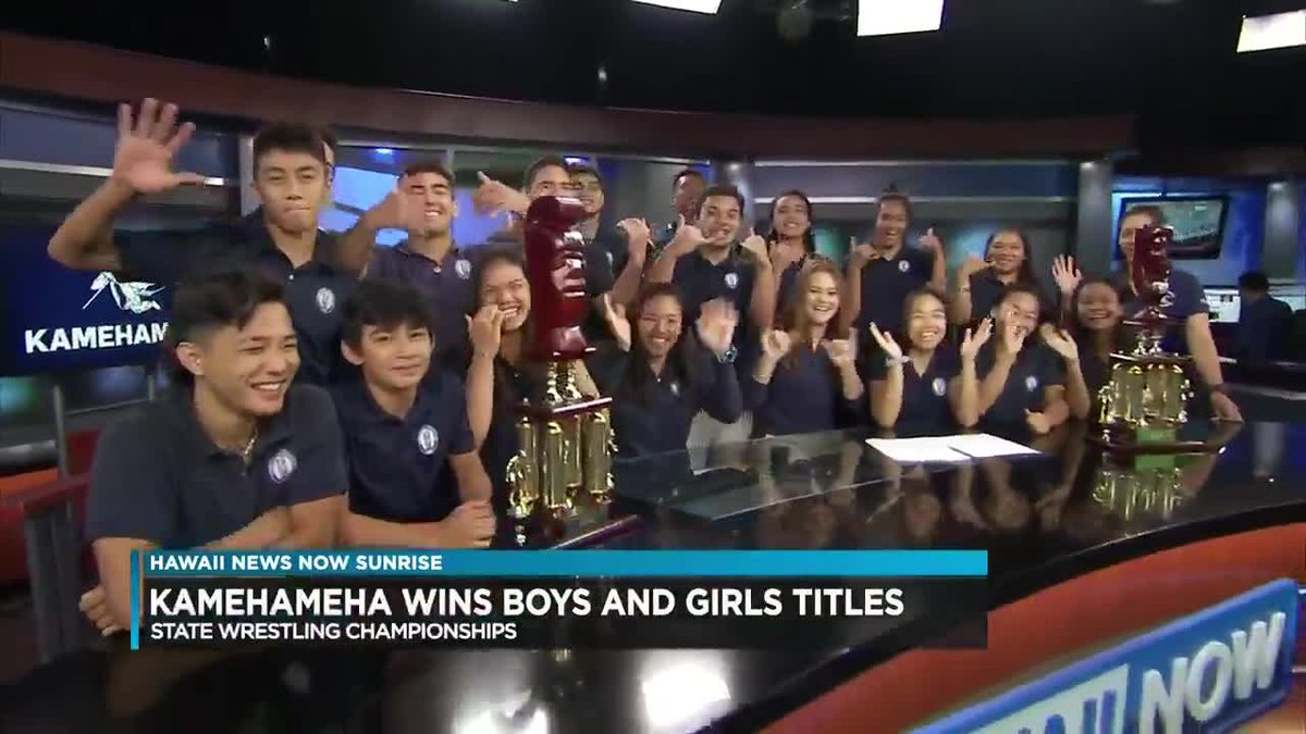 The Kamehameha boys and girls dominated on the mat, winning team state titles.