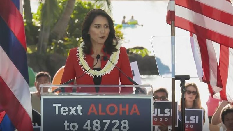 U.S. Rep. Tulsi Gabbard launched her presidential campaign last weekend. (Image: Hawaii News Now)