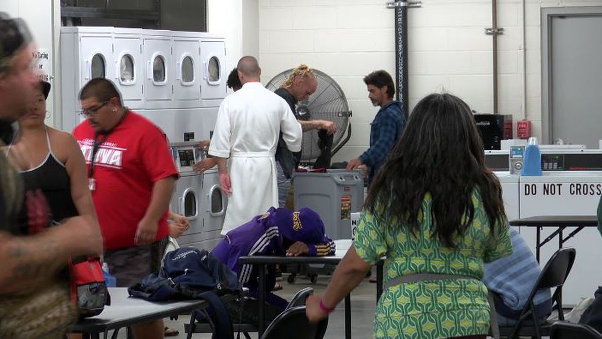 Laundry services are among what's offered at the rest stop.