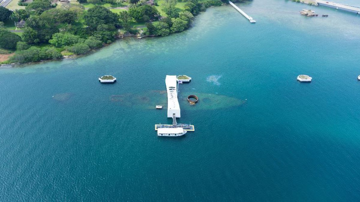 The USS Arizona Memorial is one of the most visited landmarks in the state. (Image: Archives)