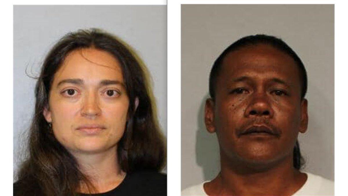 Mug shots for 47-year-old Alexander Aquino and 37 year-old Amy Aquino.