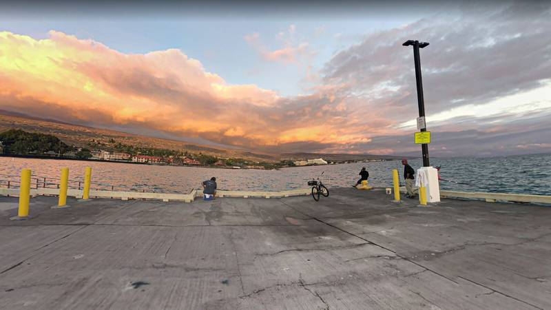 The pier, popular among fishermen, will be closed overnight.