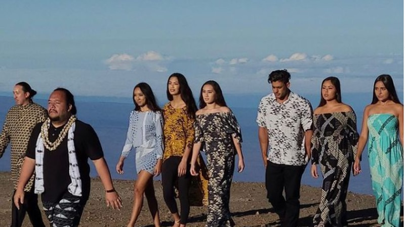 Designer Micah Kamohoalii and his team of Hawaiian models prepare for New York Fashion Week.