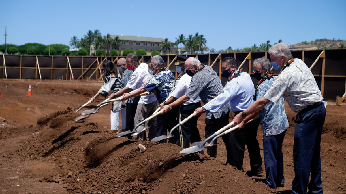 Dignitaries broke ground Monday on the state's second veterans home.
