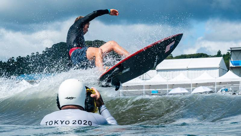Hawaii natives John John Florence and Carissa Moore made their Olympic surfing debut  on...