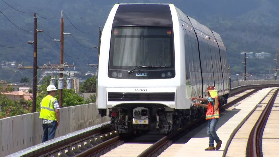 The Oahu rail project is the state's largest public works project. (Image: Hawaii News Now)