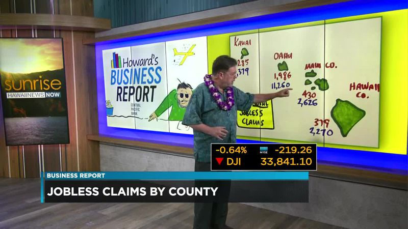 Business Report: Jobless claims by county