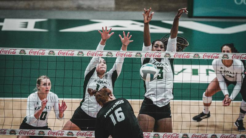 The University of Hawaii women's volleyball team continued their impressive tear of the Big...