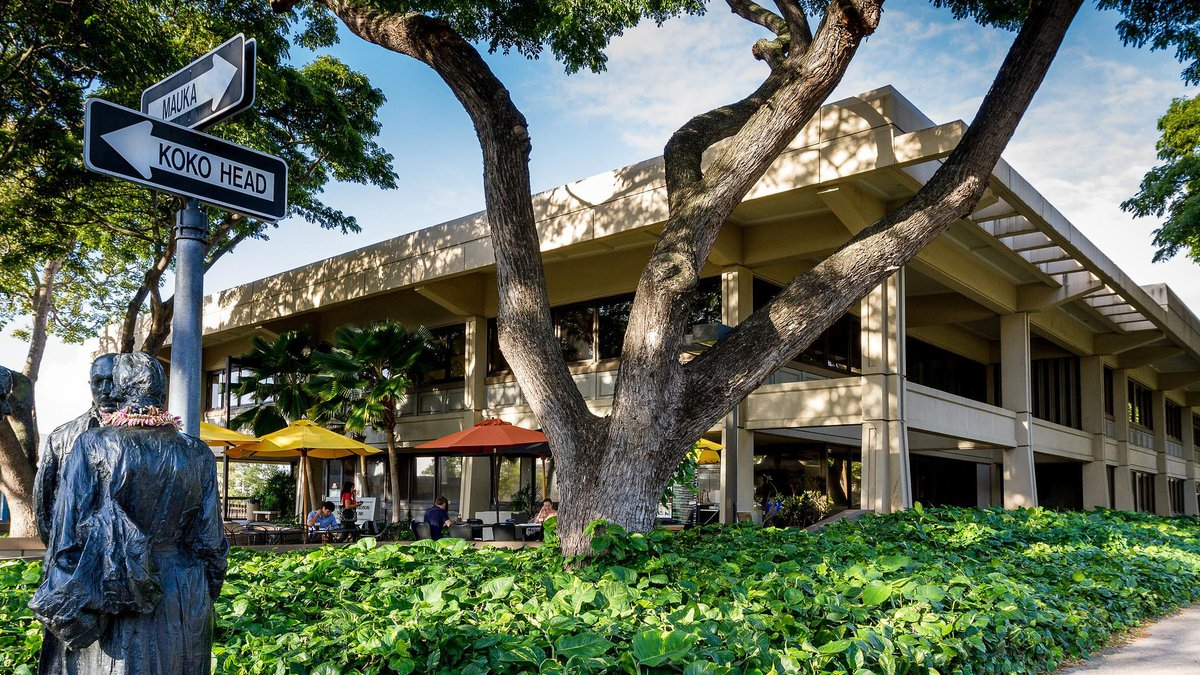 The William S. Richardson School of Law on the campus of the University of Hawaii at Manoa.