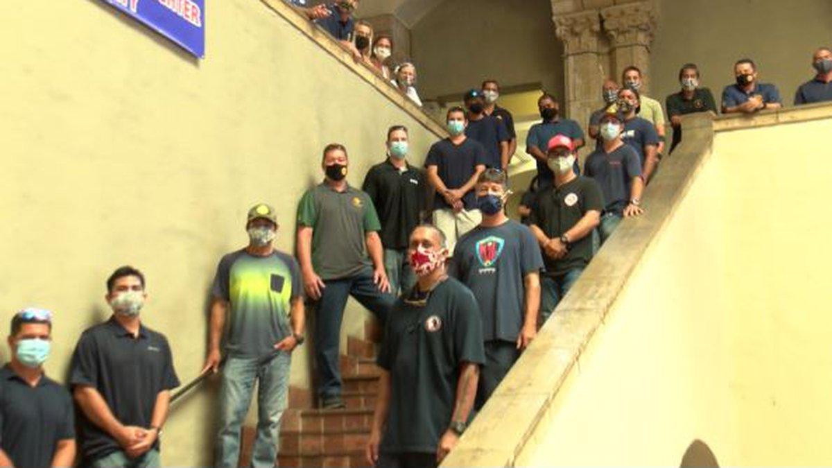 Honolulu firefighters testified at Honolulu Hale in support of Bill 14