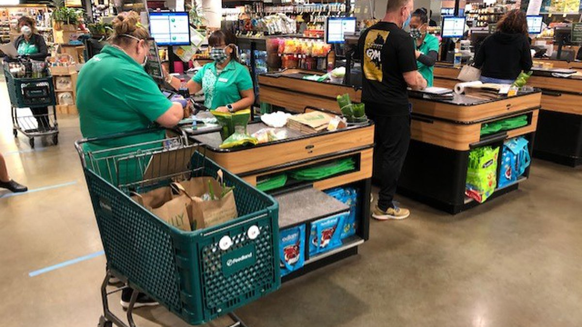 Foodland Farms Ala Moana store instituted measures to protect the health of customers and...