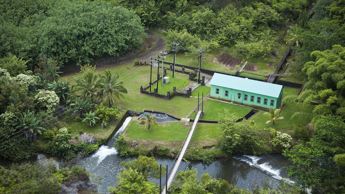 Water leaves the Lower Waiahi hydropower plant and re-enters Waiahi Stream