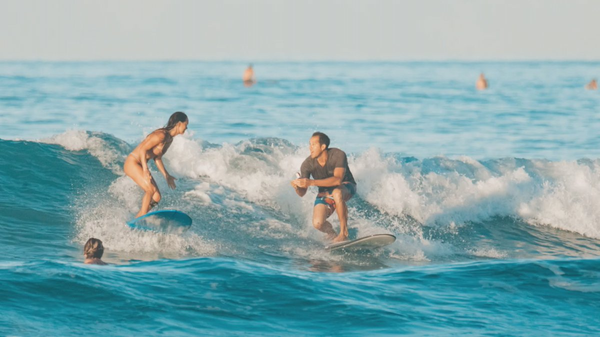 Chris Garth and Lauren Oiye got engaged this past weekend in the waters off Waikiki.