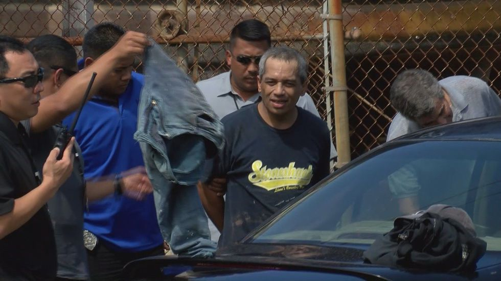 Peter Kema, Sr. was arrested Thursday in Hilo. (Image: Hawaii News Now)