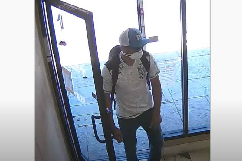 The man was caught on security cameras.