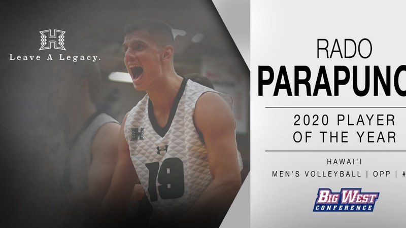 Parapunov is UH's first conference player of the year since Costas Theocharidis won Mountain...