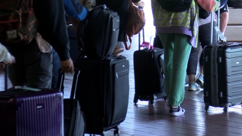 The Kahului Airport is currently seeing about 8,000 incoming travelers a day.
