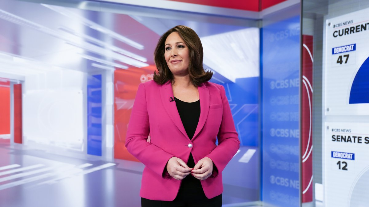 CBS News\' Nancy Cordes broadcasting Live on Election Night from CBS News\' 2020 Election...