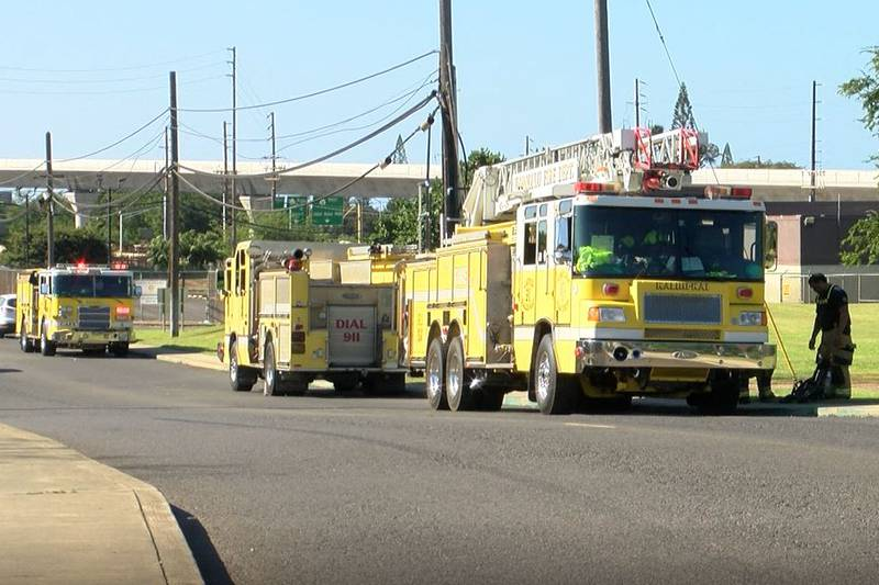 HFD responded to a two-alarm fire at a residential duplex at Joint Base Pearl Harbor-Hickam.