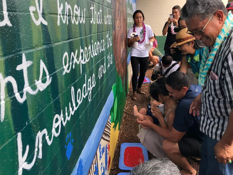 Kanoehe Elementary unveiled a mural commemorating the late Sen. Daniel Akaka on Saturday....