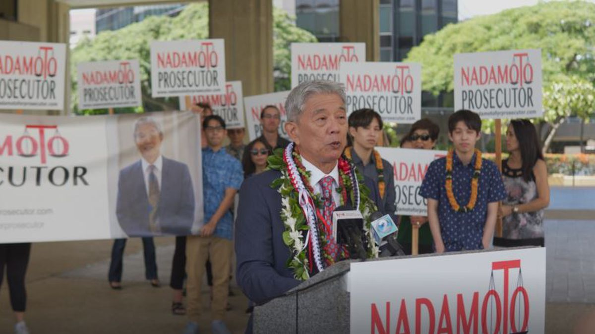 Acting city Prosecutor Dwight Nadamoto announced he's running for the position permanently.